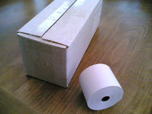 57 x 55 Thermal Till Roll, Credit Card Machine Roll or Cash Register Rolls